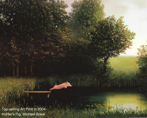Top-Selling Art Print in 2004: Kohler's Pig, Michael Sowa