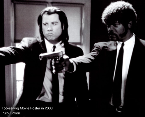 Top-Selling Movie Poster in 2008: Pulp Fiction