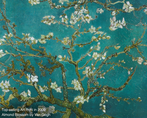 Top Selling art print in 2009. Almond Blossom by Van Gogh.