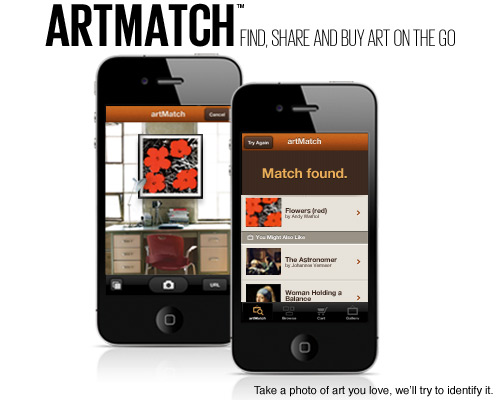 ArtMatch find, share and buy art on the go. Take a photo of art you love, we'll try to identify it