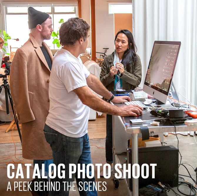 Catalog photo shoot a peek behind the scenes