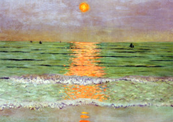 Sunset by Félix Vallotton