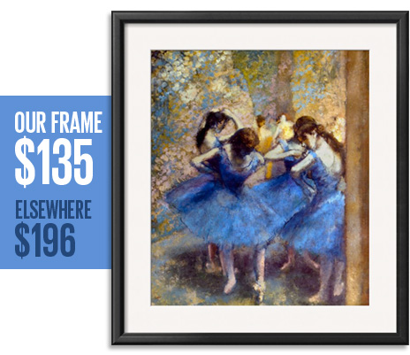 Our frame: $135 - Elsewhere: $196