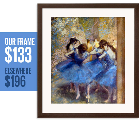 Our frame: $133 - Elsewhere: $196