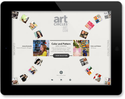 artCircles App for iPad