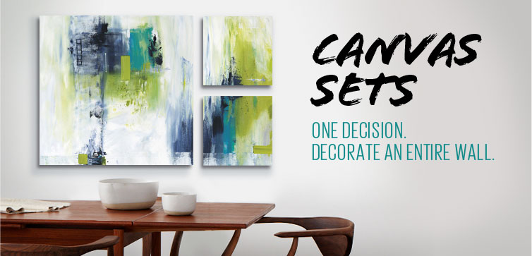 Canvas Sets - One Decision. Decorate an entire wall.