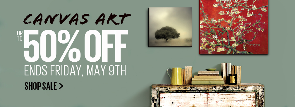 Save Up to 50% OFF Canvas Sale at Art.com