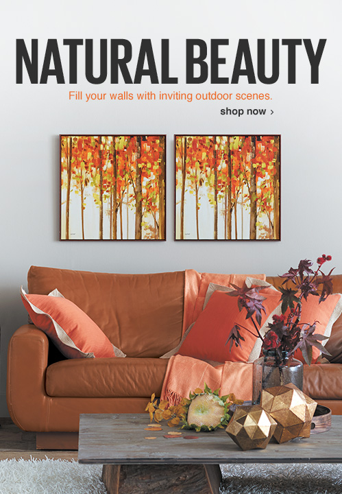 Natural Beauty. Fill your walls with inviting outdoor scenes. Shop Now