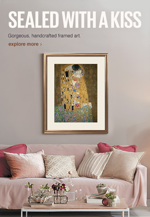 Sealed with a kiss. Gorgeous, handcrafted framed art. Explore More.
