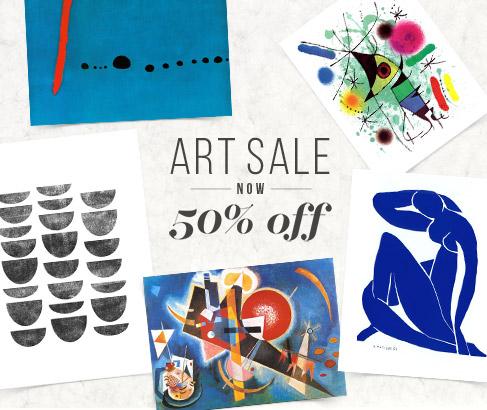 ART PRINTS NOW 50% OFF