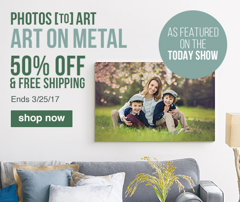 PHOTOS [TO] ART. ART ON METAL. As featured on The Today Show. 50% OFF & FREE SHIPPING. Ends 3/25/17.