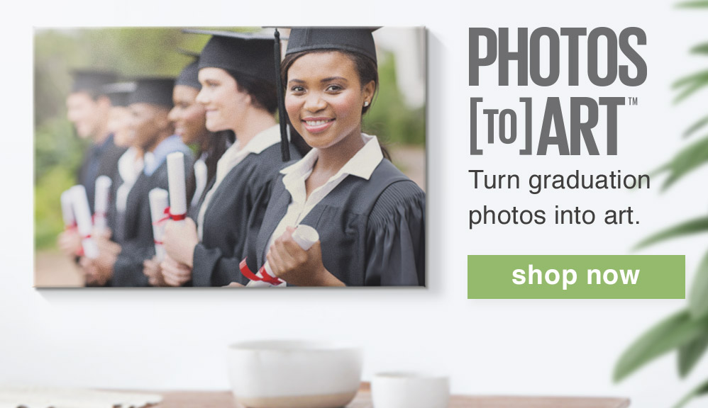PHOTOS TO ART. TURN GRADUATION PHOTOS INTO ART. SHOP NOW