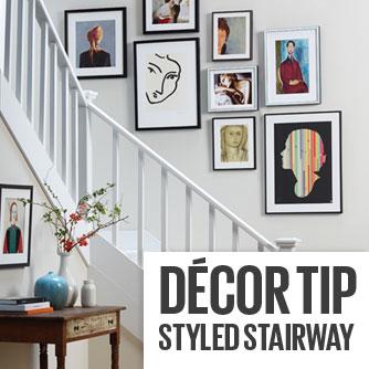 Decor Tip - Styled Stairway