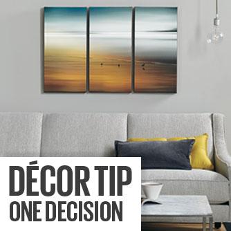 Decor Tip - One Decision
