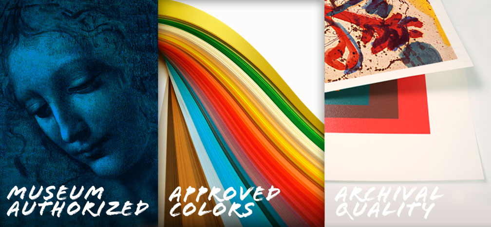 Museum Authorized - Approved Colors - Archival Quality