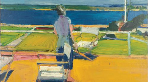 Figure on a Porch, 1959 by Richard Diebenkorn - The Berkeley Years - de Young Museum