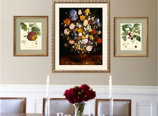 art for dining room at art