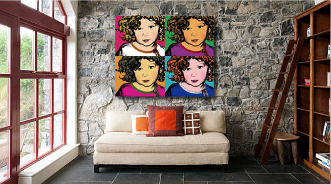 Pop art canvas by allpopart