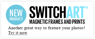 SwitchArt Magnetic Frames and Prints - Another great way to feature your photos! Try it now