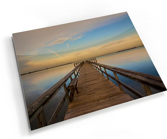 Art on Metal - Lake pier