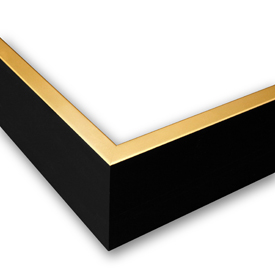 Canvas Gold And Black frame