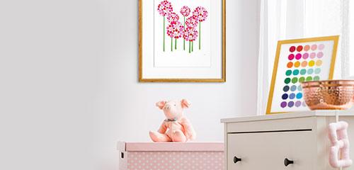 Kidsu0027 Room Decorating Ideas: Wall Art For Every Kidsu0027 Room Color