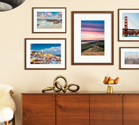 Framed Landscape Photography.
