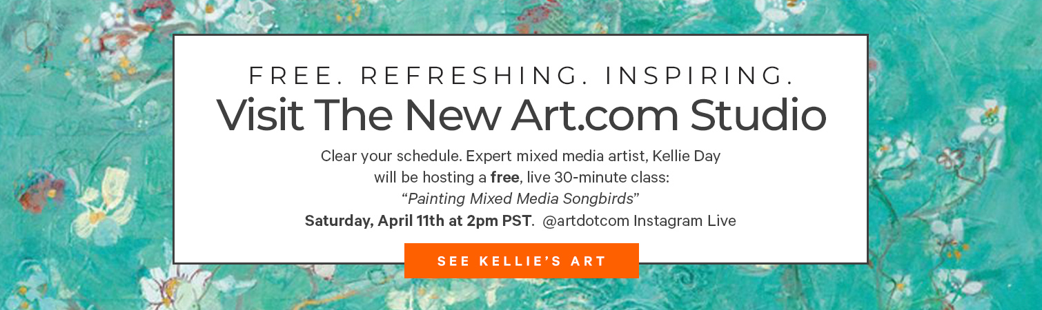 Visit the new Art.com Studio featuring Kellie Day.