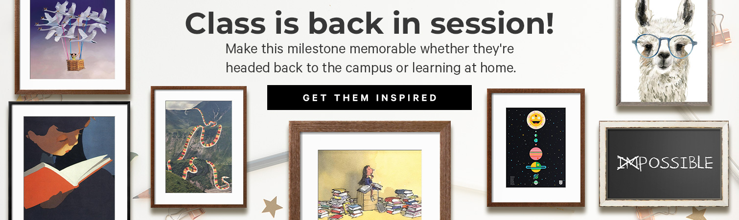 Class is back in session! Make this milestone memorable whether they're headed back to the campus or learning at home. >