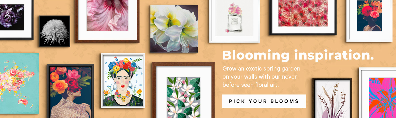 Grow an exotic spring garden on your walls with our never before seen floral art.