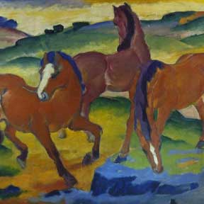 Red Horses (Grazing Horses Iv.), 1911