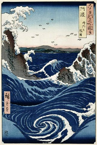 Awa Province: Stormy Sea at the Naruto Rapids