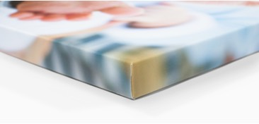Gallery Wrap: the edges of the canvas picture are wrapped around the frame borders, creating the appearance of 3D wall art.