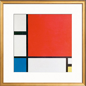 Composition II in Red... By Piet Mondrian