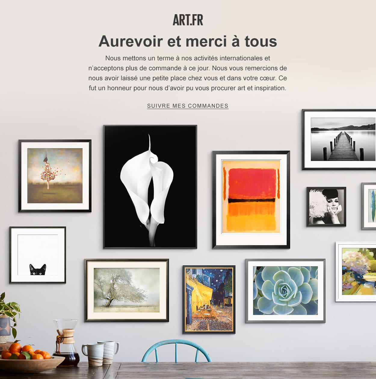 Art.FR Closing Business Message