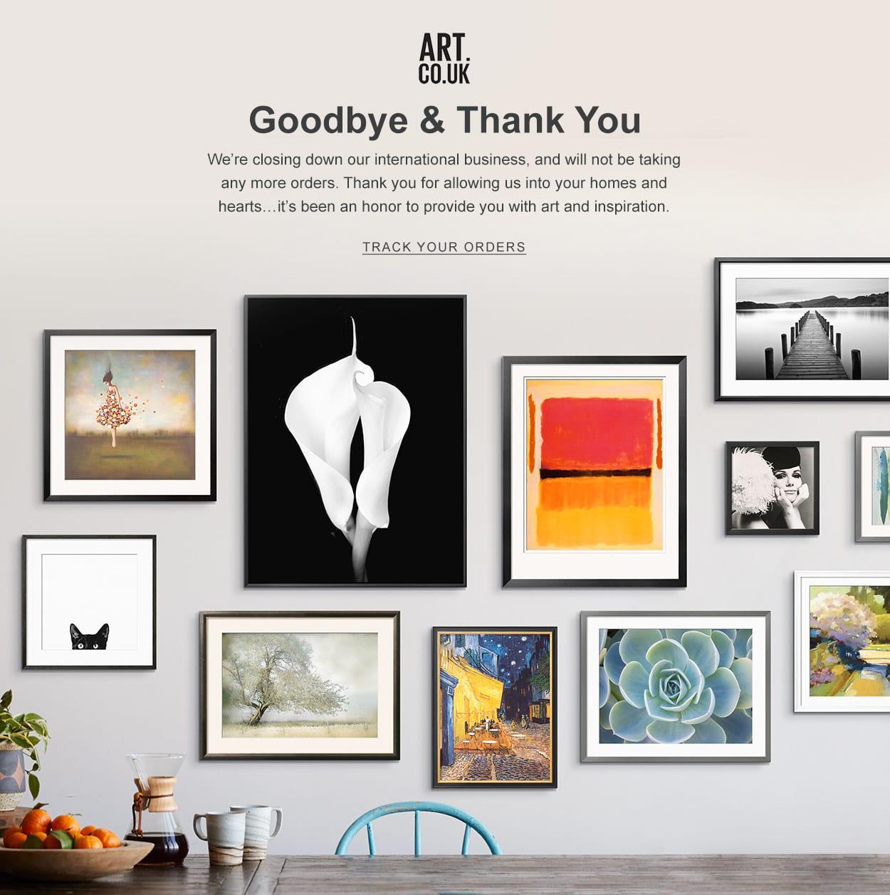 Art.UK Closing Business Message